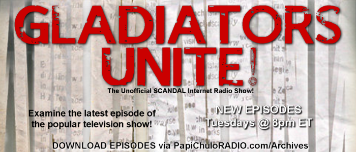 GLADIATORS UNITE - Tuesdays 8pm on Papi Chulo RADIO